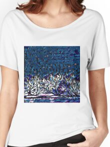 Starry Winter Night Women's Relaxed Fit T-Shirt