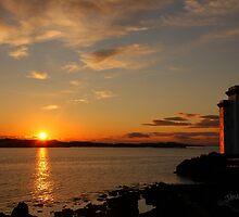 Port Ellen Lighthouse Sunrise by Jonathan Cox