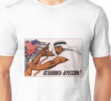Soviet Propaganda - Stop the Aggressors! (1958) Unisex T-Shirt