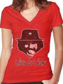Viva La Vern Women's Fitted V-Neck T-Shirt