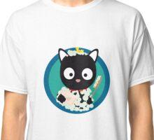 Bathing Cat with bath foam Classic T-Shirt