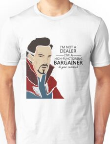Dr Strange the bargainer Unisex T-Shirt