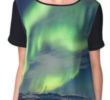 Spectacular Aurora borealis Northern Lights Chiffon Top