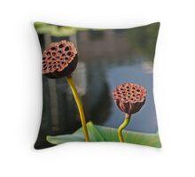 Sunbathing Seed Pods Throw Pillow