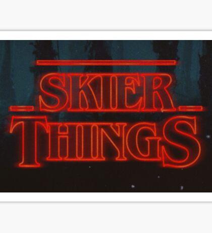Skier things Helmet/Board Sticker Sticker