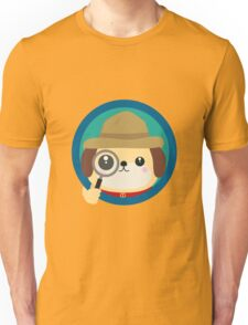Dog detective with magnifying glass Unisex T-Shirt