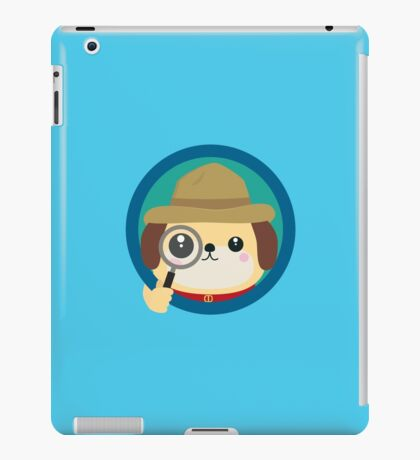 Dog detective with magnifying glass iPad Case/Skin