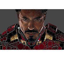 Iron man circles art Photographic Print