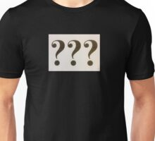 Question Marks Black on White Unisex T-Shirt