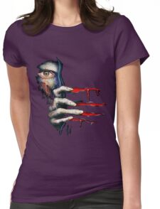 Capcom Resident Evil 2 Classic RARE Design. 100% Redrawn In Adobe Ilustrator Vector Format. Womens Fitted T-Shirt
