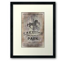 Lakeside Amusement Park Framed Print