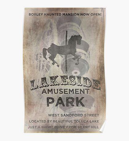 Lakeside Amusement Park Poster