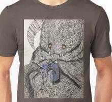 Monster Performing a Mundane Task Unisex T-Shirt