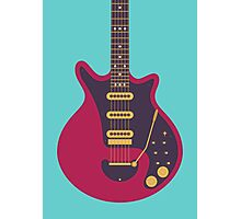 Brian May Red Special Guitar (Large Teal) Photographic Print