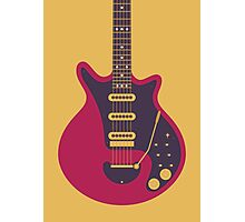 Brian May Red Special Guitar (Large Gold) Photographic Print