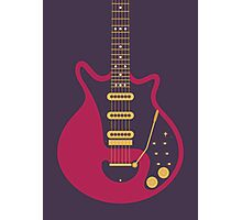 Brian May Red Special Guitar (Large Black) Photographic Print