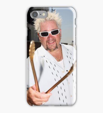 Guy Fieri golden tongs iPhone Case/Skin