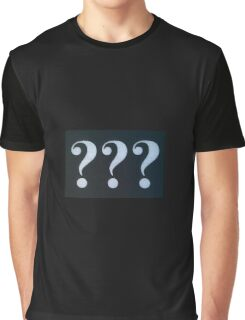 Question Marks White on Black Graphic T-Shirt