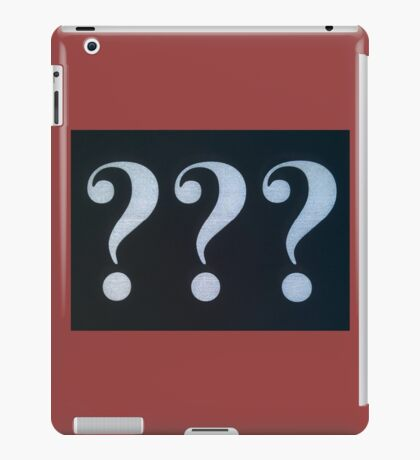 Question Marks White on Black iPad Case/Skin