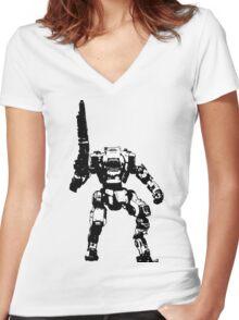 7274 Women's Fitted V-Neck T-Shirt