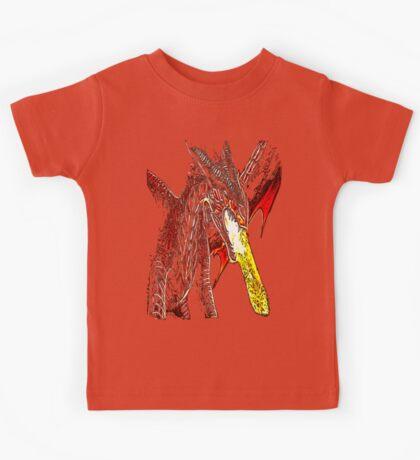 Toothless Fire Breathing Night Fury Fractal Dragon Design Kids Tee