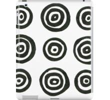 New design circles : black and white iPad Case/Skin