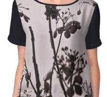 Serenity in Black and White Chiffon Top