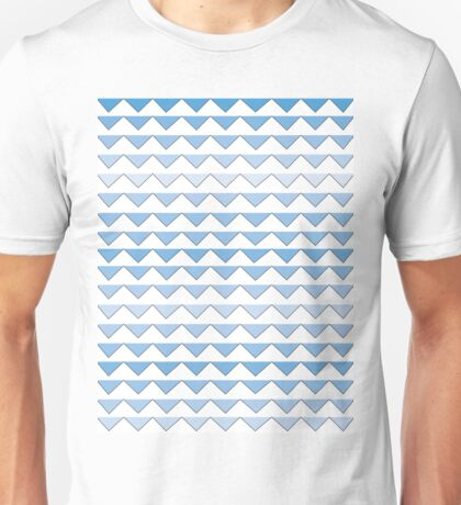 Blue Triangles Unisex T-Shirt