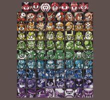 Mega Man Robot Masters Rainbow One Piece - Short Sleeve