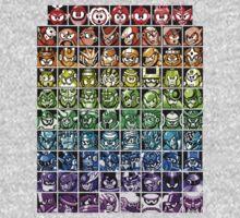 Mega Man Robot Masters Rainbow Baby Tee