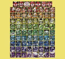Mega Man Robot Masters Rainbow Kids Tee