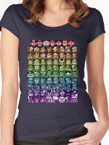 Mega Man Robot Masters Rainbow Women's Fitted Scoop T-Shirt