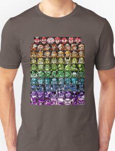 Mega Man Robot Masters Rainbow Unisex T-Shirt