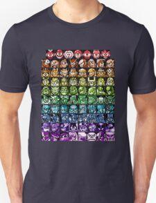 Mega Man Robot Masters Rainbow T-Shirt