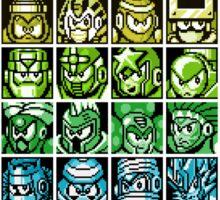 Mega Man Robot Masters Rainbow Sticker