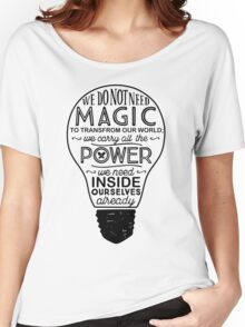 Official Lumos Be the Light T-shirt Women's Relaxed Fit T-Shirt