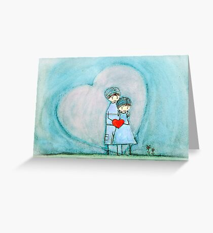 I carry your heart  Greeting Card