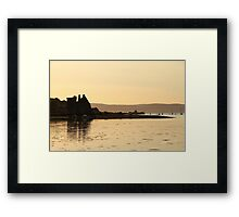 Lochranza Castle Sunset Framed Print