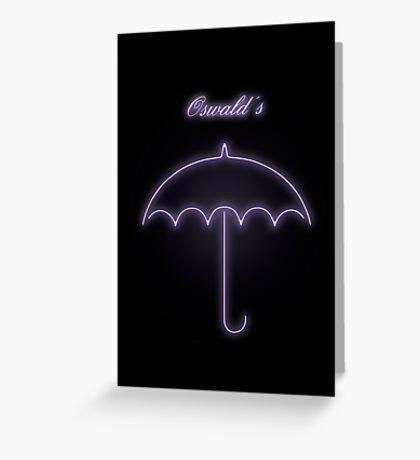 Oswald's Night Club - Gotham Greeting Card