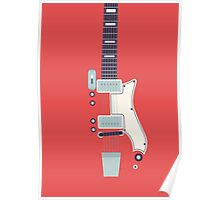 Jack White JB Hutto Montgomery Ward Airline Guitar (Large Red) Poster