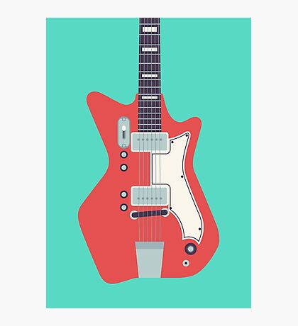 Jack White JB Hutto Montgomery Ward Airline Guitar (Green) Photographic Print