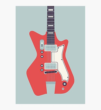 Jack White JB Hutto Montgomery Ward Airline Guitar (Grey) Photographic Print