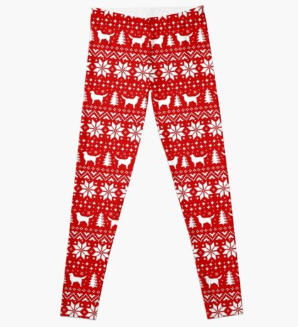 Nova Scotia Duck Toller Retrievers Christmas Sweater Pattern Leggings