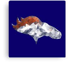 Denver Broncos Triangles Canvas Print