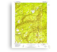USGS TOPO Map California CA Sly Park 300540 1953 24000 geo Canvas Print