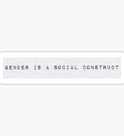 Gender is a Social Construct Sticker