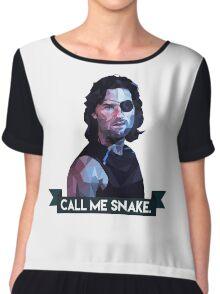 Snake Plissken Chiffon Top