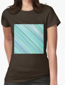 Painted Blue and Green Background Womens Fitted T-Shirt