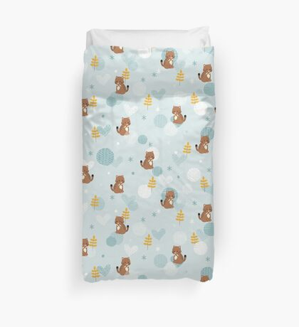 Fluffy Ice Age Duvet Cover