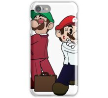 Mario Bros vs Fight Club iPhone Case/Skin